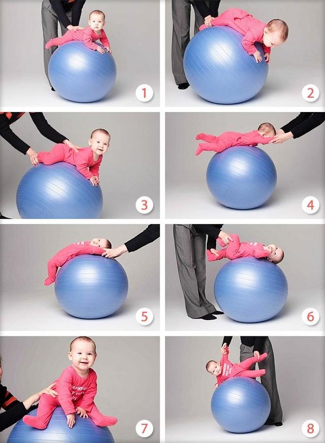 Фитбол для грудничков. Упражнения на фитболе для грудничков